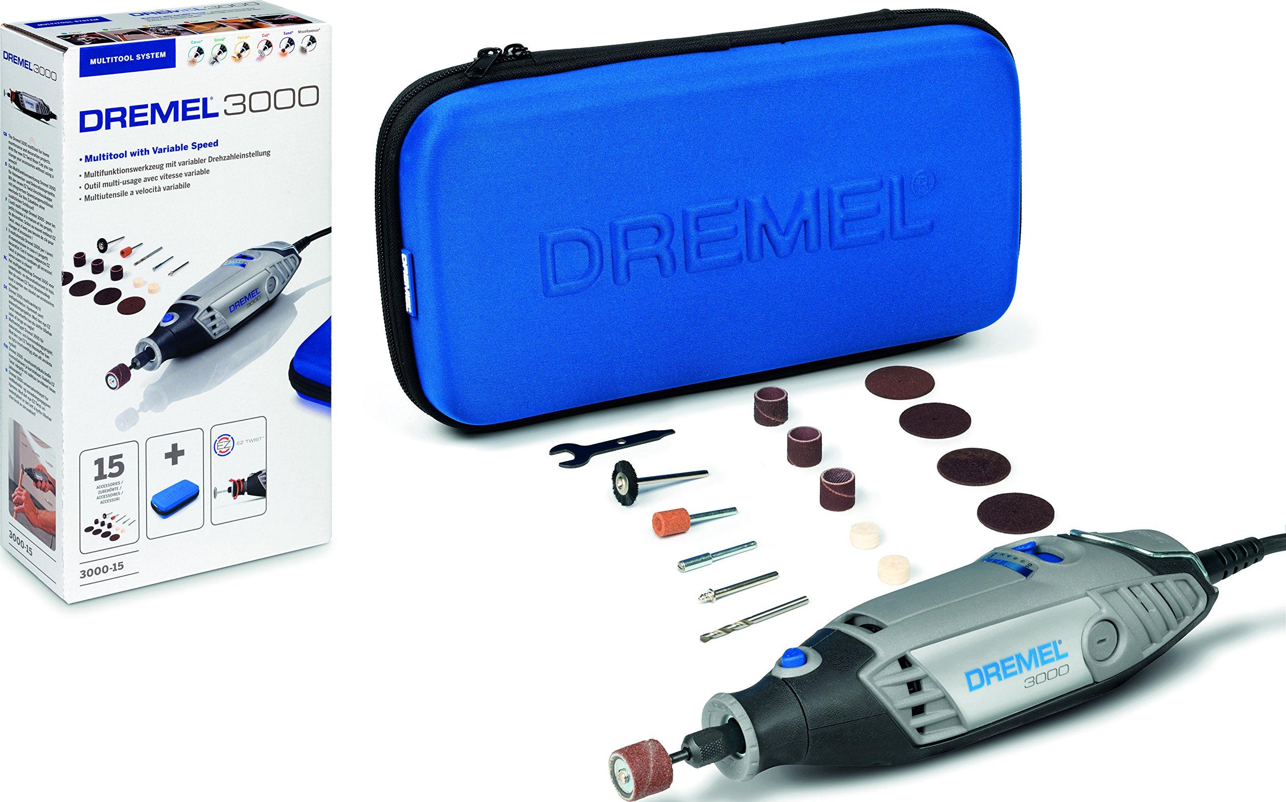Dremel 3000 - Multiherramienta (130 W, 15 accesorios y estuche) product image