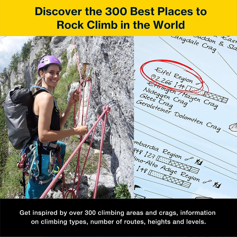 Climbing Map by Awesome Maps - Mapa mundial ilustrado para los aficionados a la escalada - reescribible - 97.5 x 56 cm