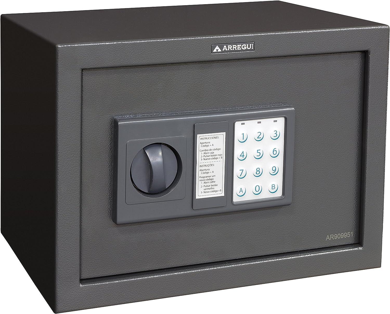 Arregui T25EB Caja fuerte de sobreponer electrónica (350 x 250 x 250 mm), Gris oscuro: Amazon.es: Bricolaje y herramientas