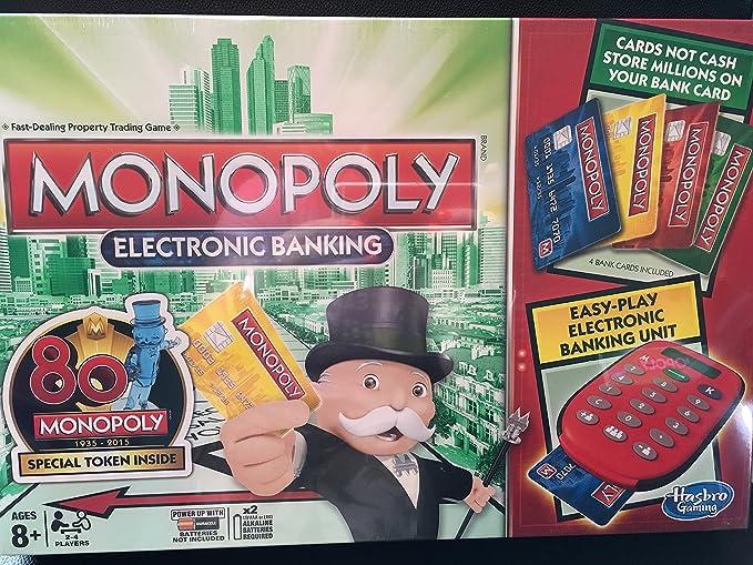 Monopoly Electronic Banking 80th - Ficha especial en el interior: Amazon.es: Juguetes y juegos