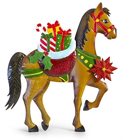 Christmas Horse Decorations.Amazon Com Besti Holiday Horse Christmas Decorations Lawn