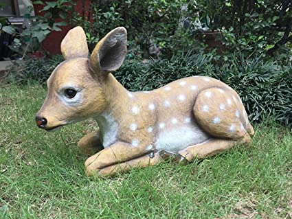 wonderland lying deer garden decoration garden animals garden decor home decor - Garden Animals
