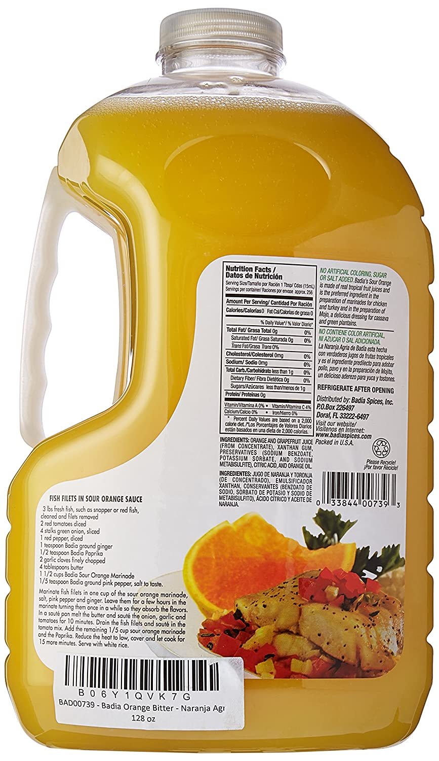 Amazon.com : Badia Orange Bitter - Naranja Agria 128 oz : Grocery & Gourmet Food