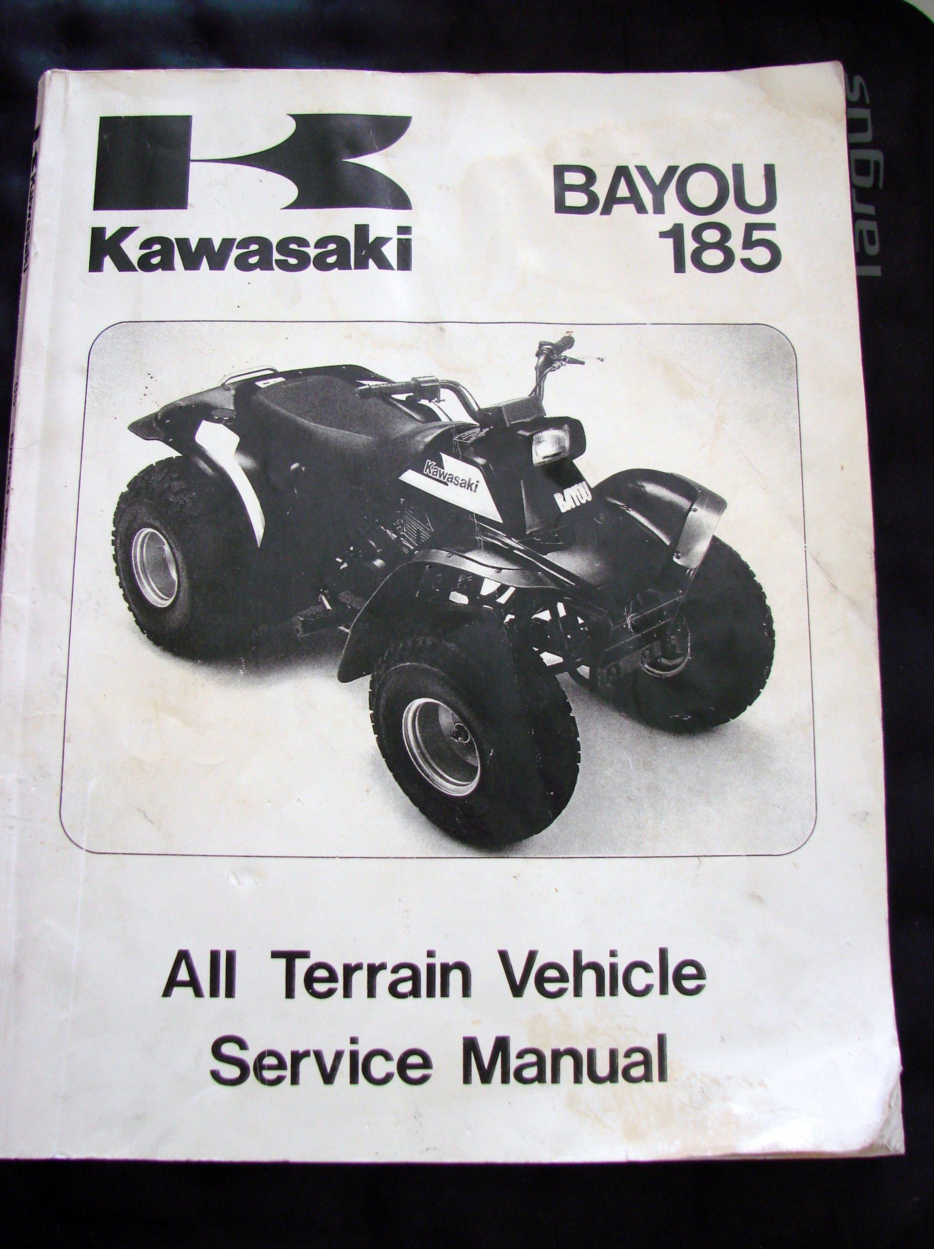 Kawasaki Bayou 185 All Terrain Vehicle Service Manual (KLF185-A1): Kawasaki:  Amazon.com: Books