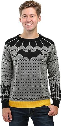 Classic Batman Ugly Christmas Sweater X-Small Gray