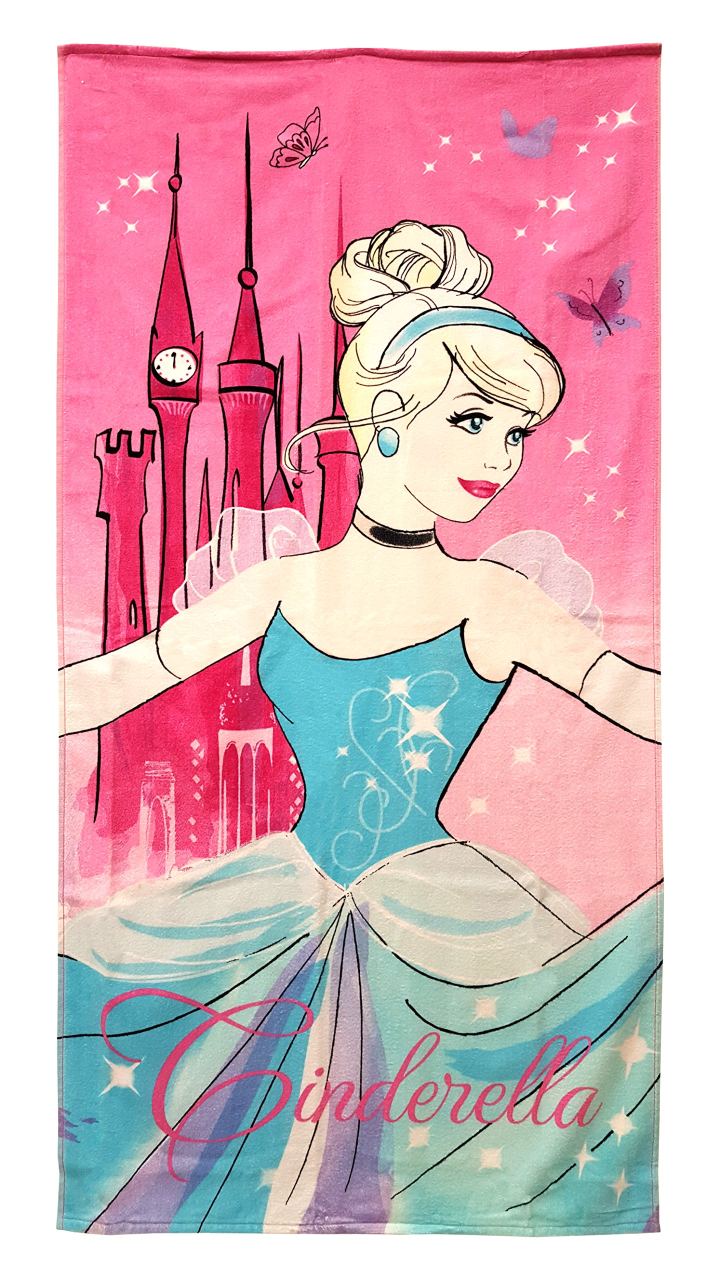 Disney Princess Cinderella 28'' X 58'' 100% Cotton Beach/Bath/pool Towel