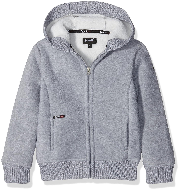 Schott NYC Jungen Kapuzen-Sweatshirt Sw550b