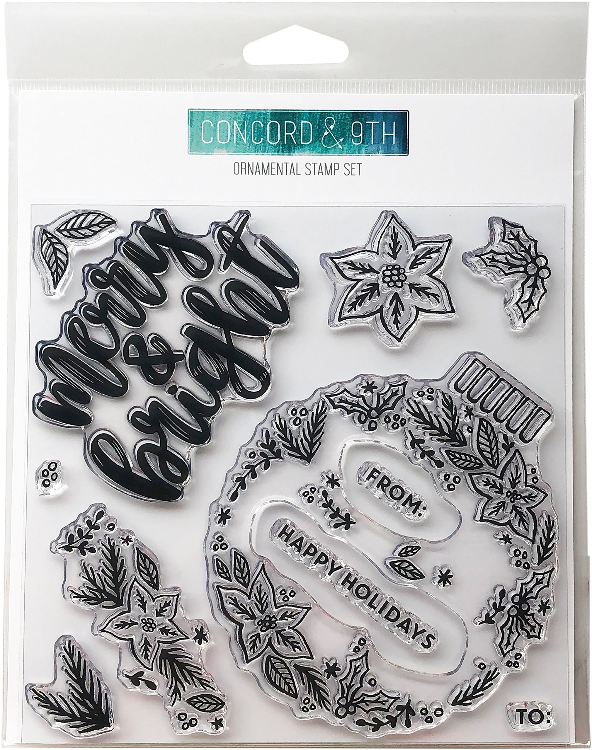 Concord & 9th Clear Stamps, Ornamental