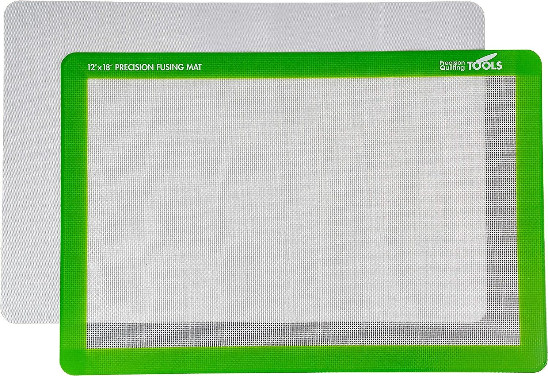 Amazon Com Precision Fusing Mat 12 X 18 Includes Non Slip Mat With See Through Design For Appliqué Creation And Bonus Teflon Coated Pressing Sheet