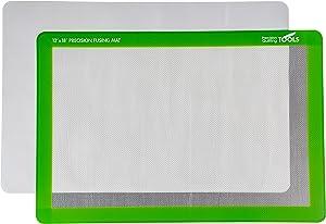 "Precision Fusing Mat (12"" x 18"") Includes Non-Slip mat with See-Through Design for Appliqué Creation, and Bonus Teflon Coated Pressing Sheet!"
