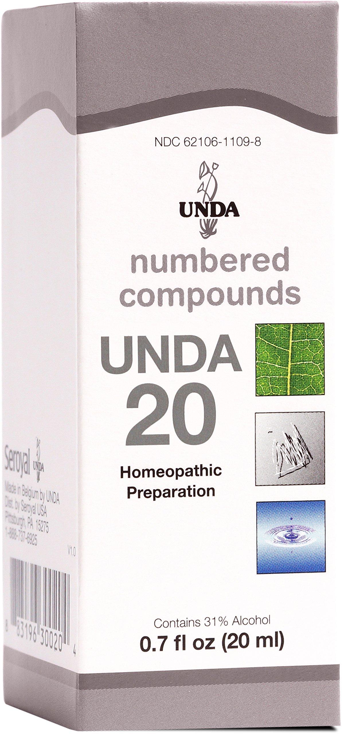 UNDA - UNDA 20 Numbered Compounds - Homeopathic Preparation - 0.7 fl oz (20 ml) by UNDA