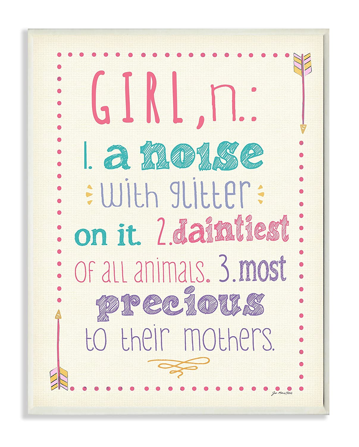 A Noise with Glitter On It 11 x 0.5 x 15 The Kids Room by Stupell Textual Art Wall Plaque Proudly Made in USA