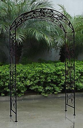 Bentley Garden Arche Décorative De Jardin Fer Forgé Noir