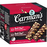 Carman's Mixed Muesli Bar 12 x Dark Choc, Cherry and Coconut and 12 x Dark Choc, Cranberry and Almond 840 Grams