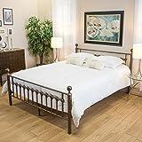 bradford cal king brown finish bed frame