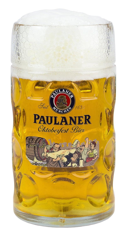 Paulaner Dimpled Isar Beer Mug - 1 Liter Mass Krug SYNCHKG025841