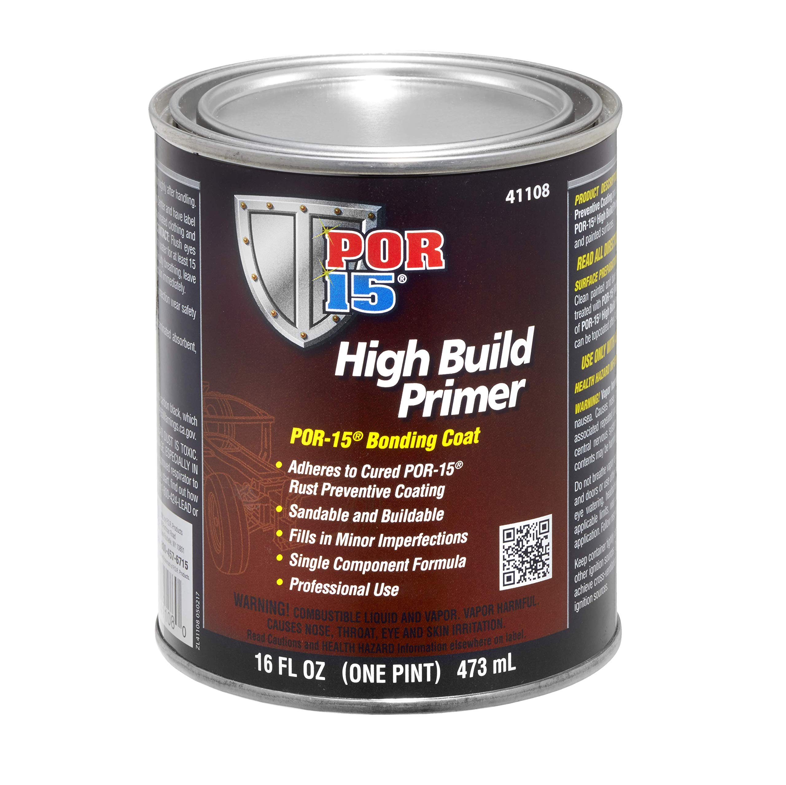 POR-15 41108 High Build Primer - 1 pint