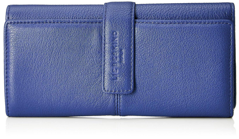 Liebeskind Berlin CoLeoniH8 - Vintag - Porte-monnaie de Cuero Mujer, color Azul, talla 4x11x19 cm (B x H x T): Amazon.es: Zapatos y complementos