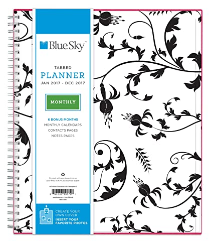 amazon com blue sky 2017 monthly planner wire o binding 8 x 10