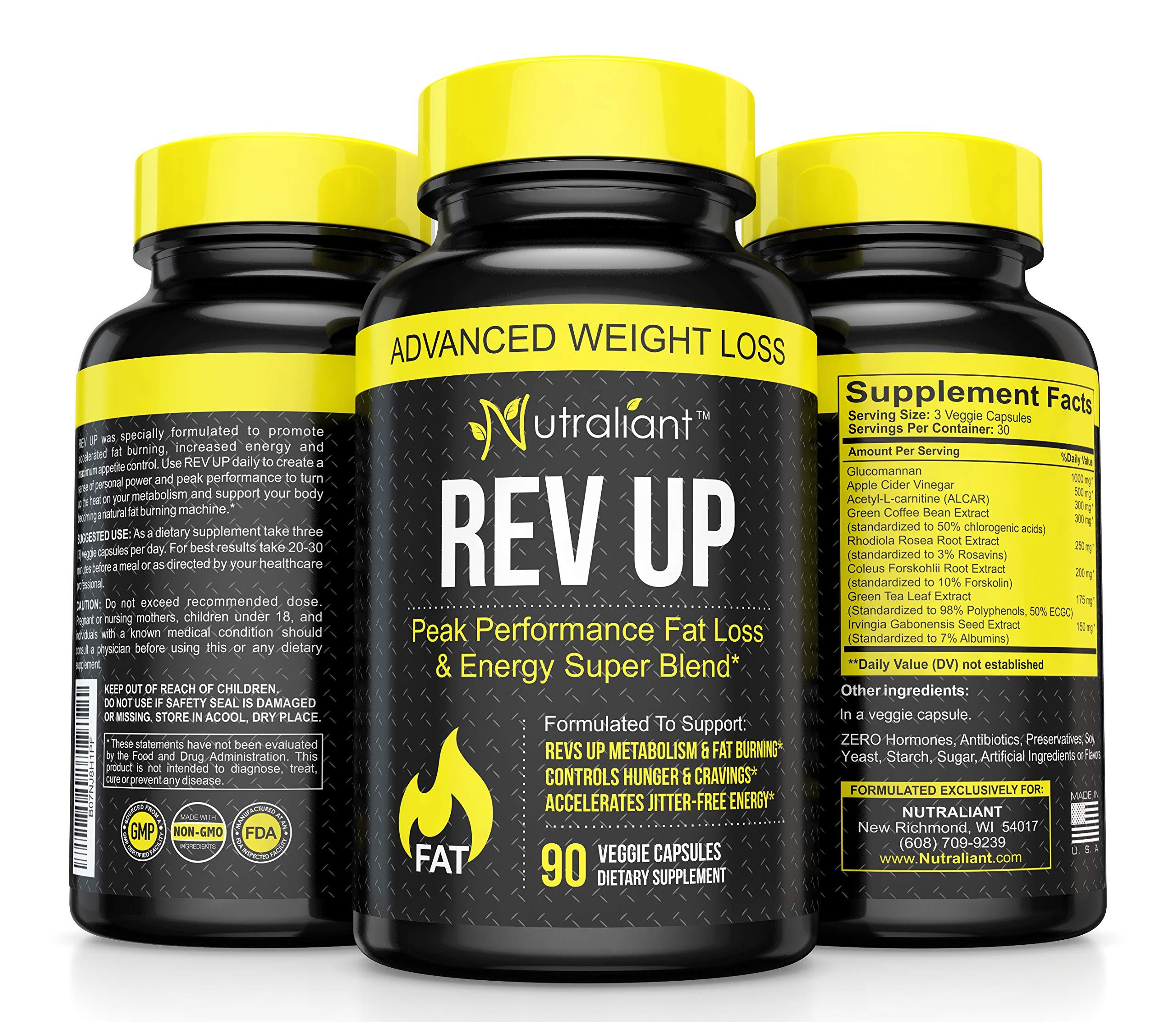 #1 Fat Burner Pills for Men & Women Thermogenic Supplement + Glucomannan, Apple Cider Vinegar, Acetyl L-Carnitine, Green Tea + Best Weight Loss Appetite Suppressant, Detox, Energy + Belly Fat Burners