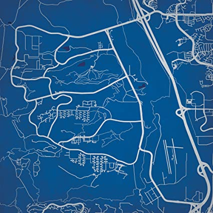 Gadsden State Campus Map.Amazon Com United State Air Force Academy Campus Map Art 14