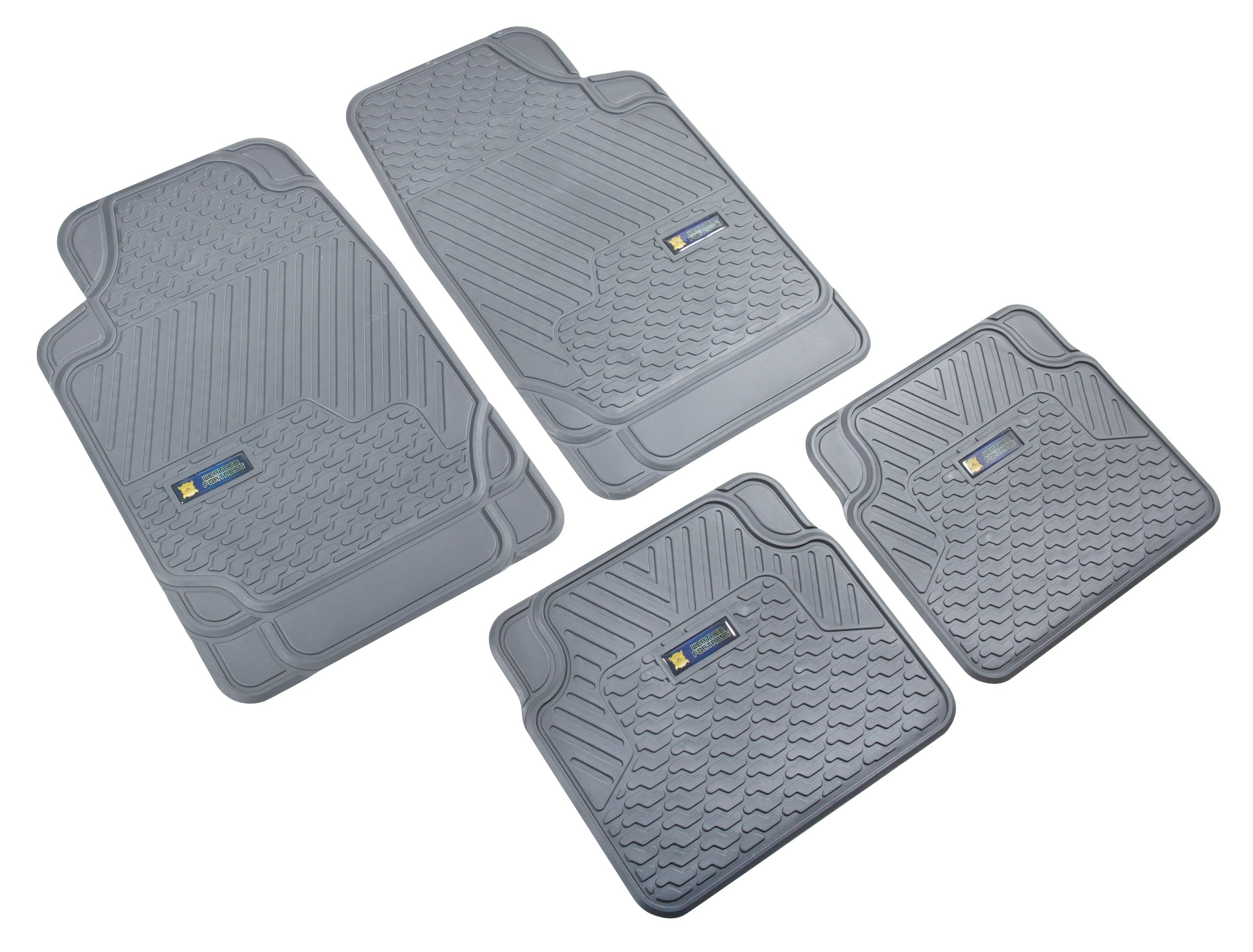 Highland 4547900 Weather Fortress Gray Synthetic Rain Floor Mat - 4 Piece by Highland (Image #1)