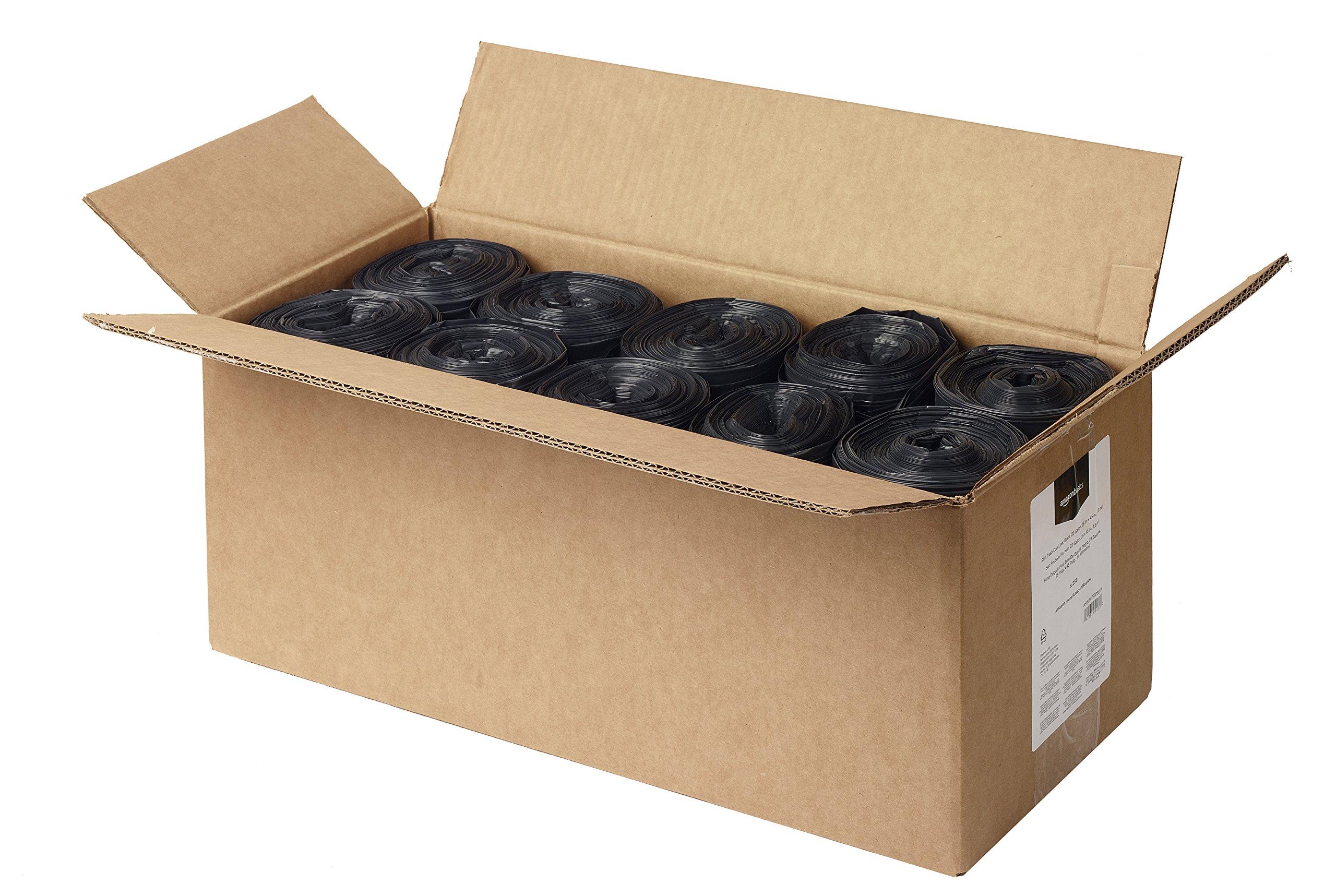 AmazonBasics 23 Gallon Slim Trash Can Liner, 1.6 mil, Black, 250-Count by AmazonBasics (Image #3)