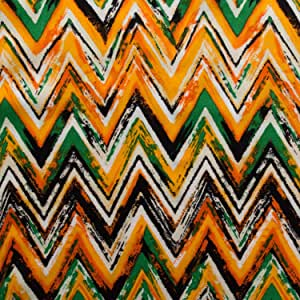 ℳ Rayon Voile Light Weight Jamaican Chevron 58 Inch Wide Fabric by the Yard (F.E.