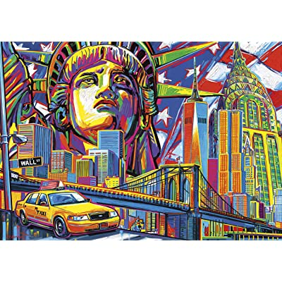 Buffalo Games - Vivid Collection - New York Color - 300 Large Piece Jigsaw Puzzle: Toys & Games