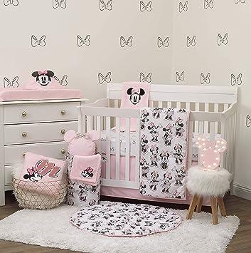 Amazoncom Disney Minnie Mouse 6 Piece Nursery Crib Bedding Set