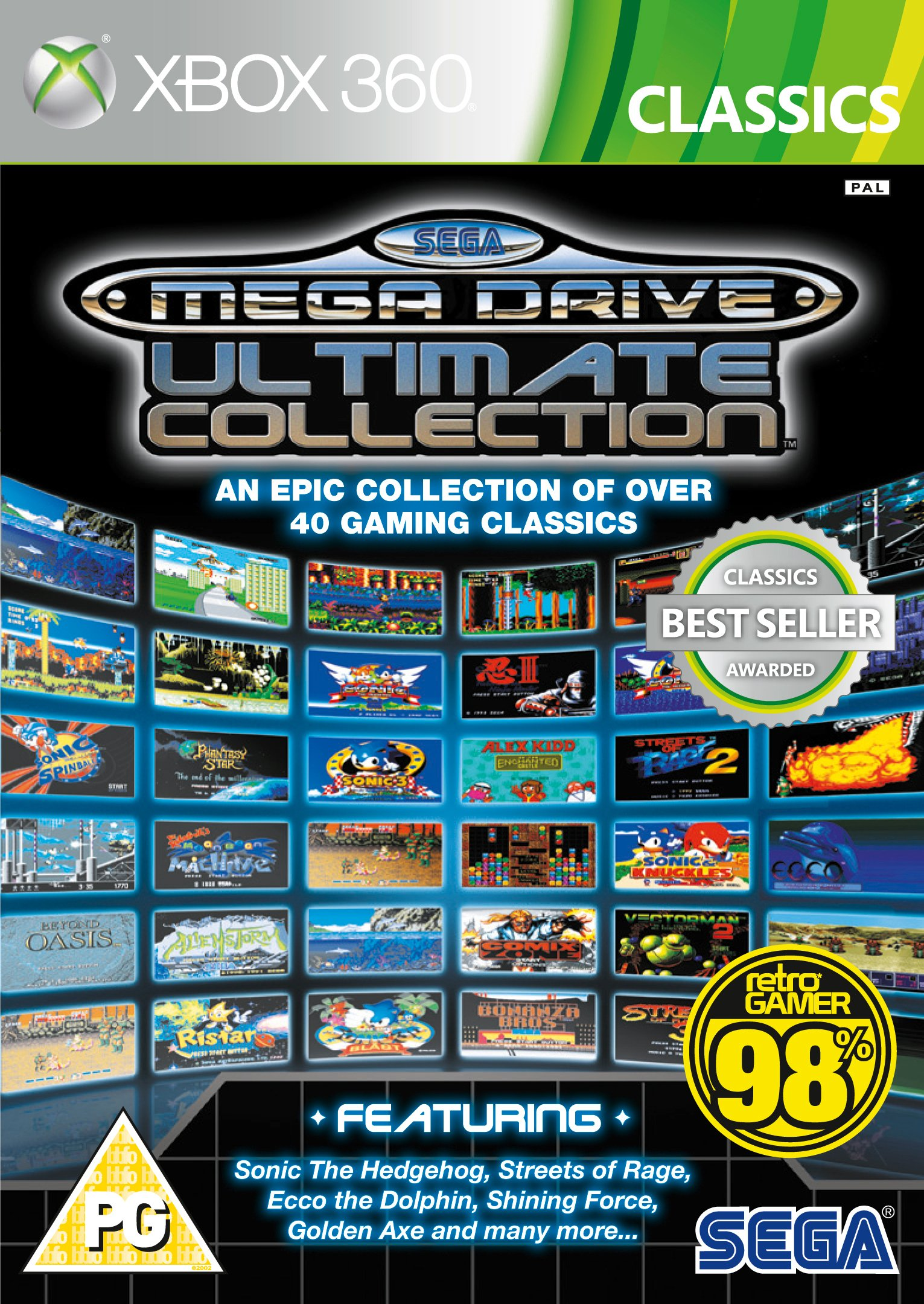 Xbox 360 Sega Games Wiring Diagrams Genesis Diagram Amazon Com Mega Drive Ultimate Collection Classics Rh Sonic