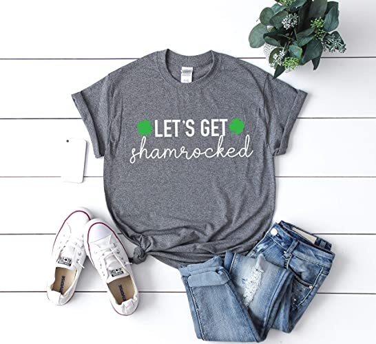 01c90eb64 Lets Get Shamrocked Drinking Shirt Funny Drinking Shirt Lucky Shirt Women's  St Patricks day tee Shamrock shirt Men's St Patty's day t-shirt St Patty's  Day