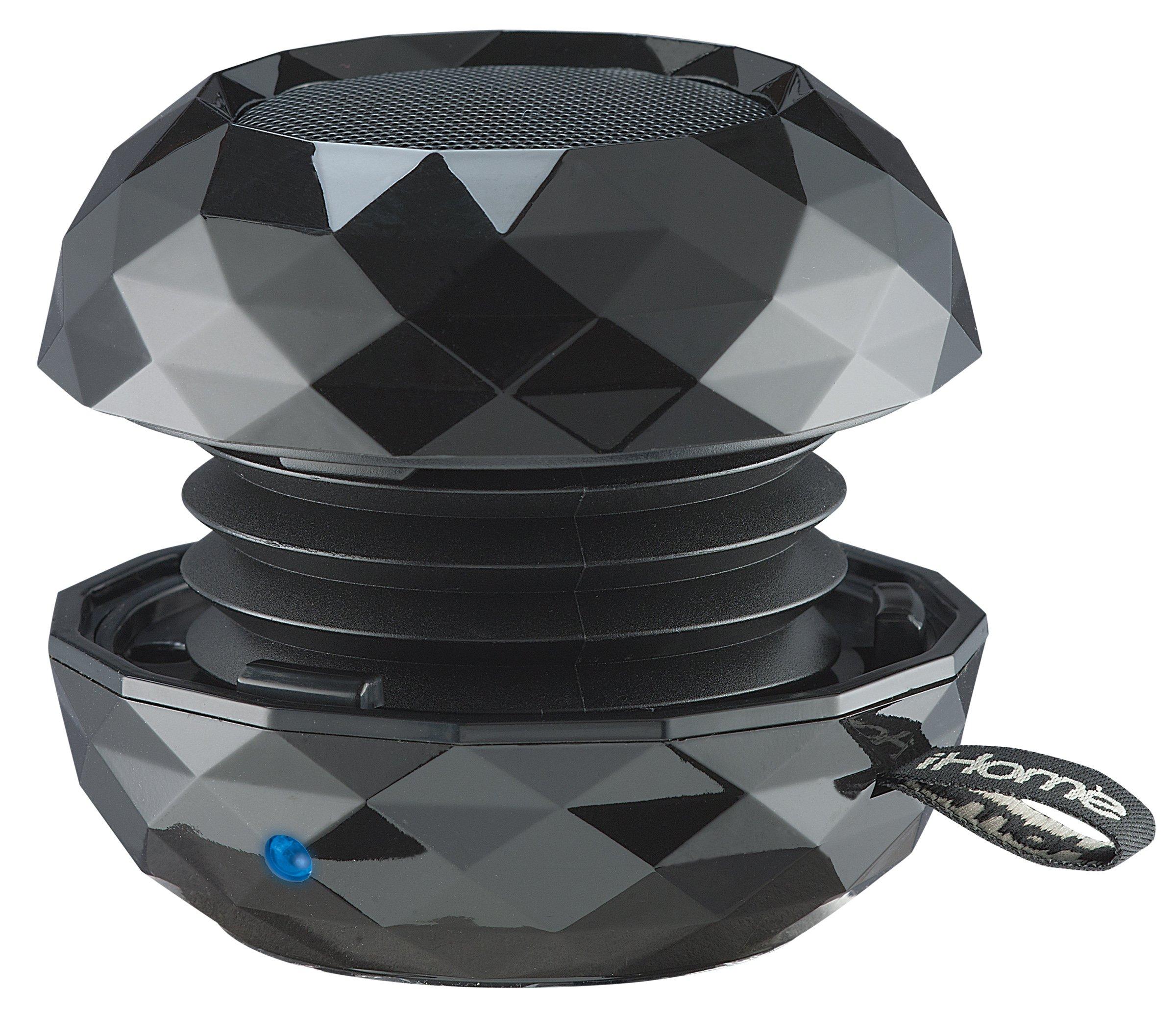 iHome IBT65B Bluetooth Rechargeable Mini Speaker System in Metallic Finish (Black)