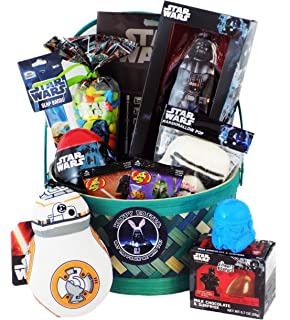 Amazon star wars easter basket great for little boys and happy easter may the force be with you star wars easter gift basket with negle Images