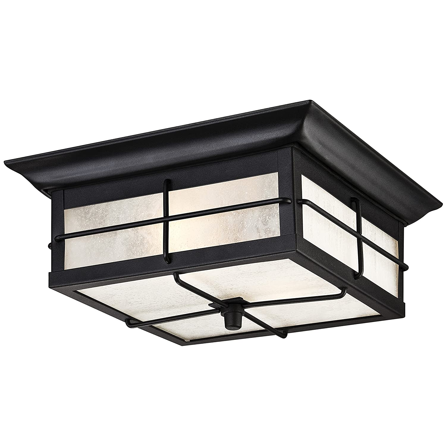 Amazon orwell 2 light outdoor flush mount fixture textured amazon orwell 2 light outdoor flush mount fixture textured black 2 pack home improvement aloadofball Images