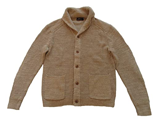 76b963dc13310 Polo Ralph Lauren Men s Cotton Linen Shawl Collar Cardigan Sweater ...