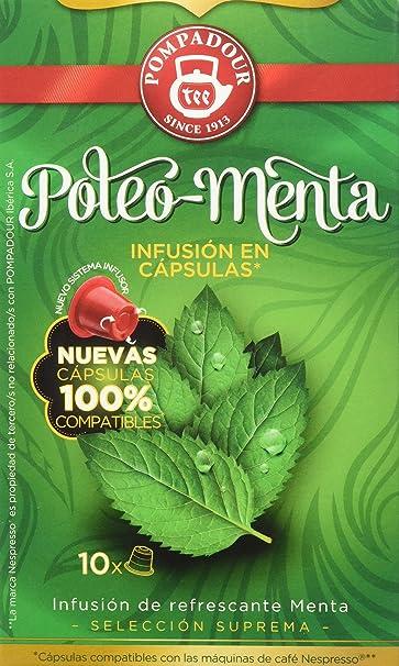 Pompadour - Poleo menta té - pack de 2 (total: 20 cápsulas ...