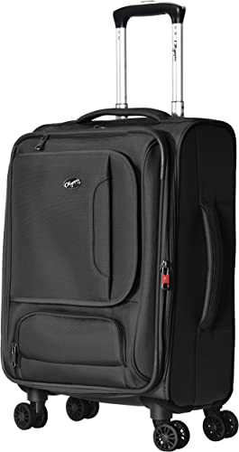 Olympia Petra 21 Carry-on Spinner, Black, One Size