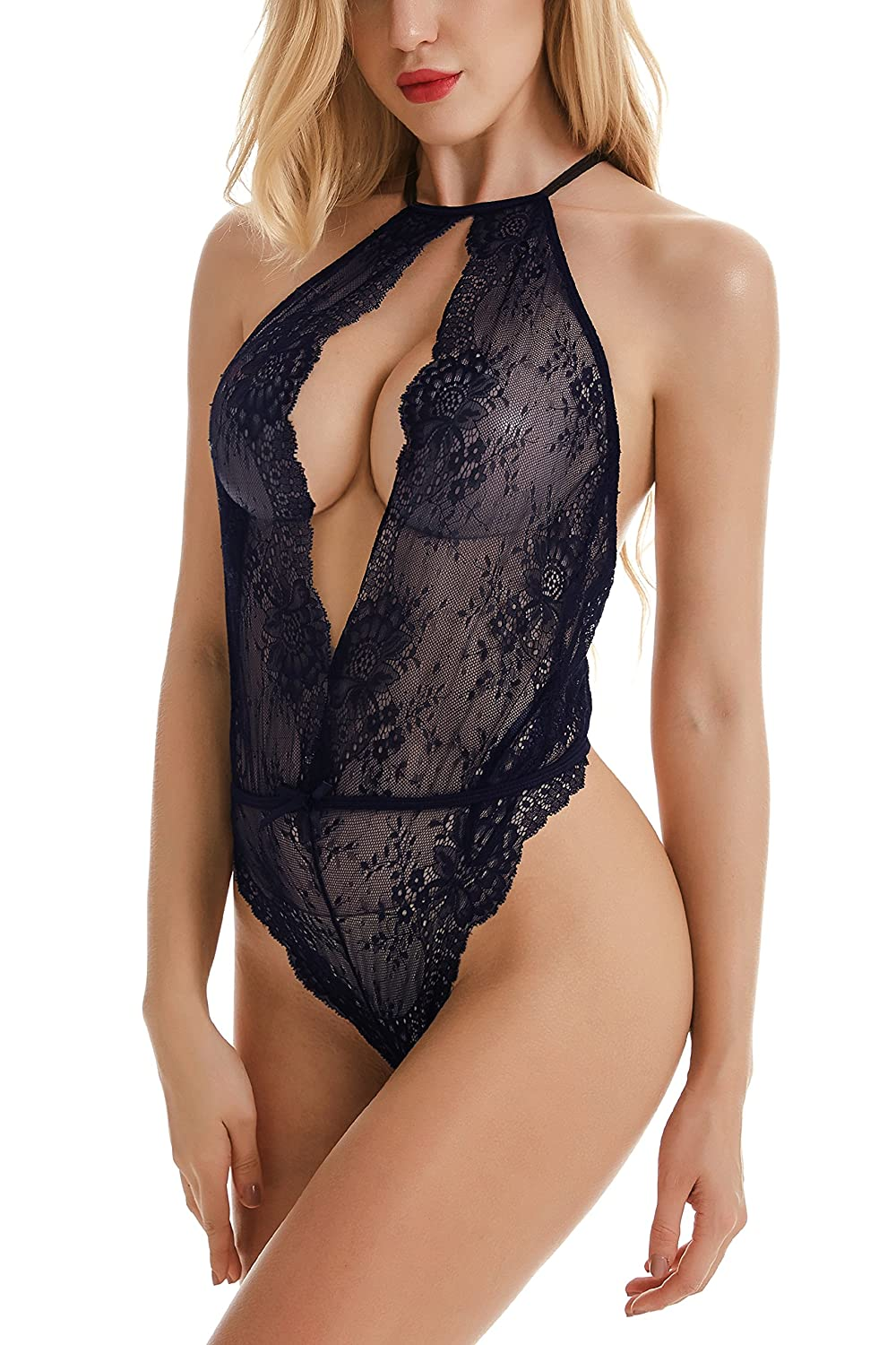 Teddies Free People Got You Teddy Bodysuit Romper Sexy Lingerie Lace Xs Black $88 Ture 100% Guarantee