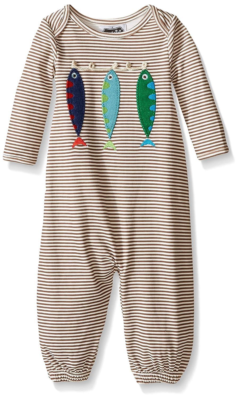 Amazon.com: Mud Pie Baby Fish Convertible Gown, Brown/White, 0-3 ...