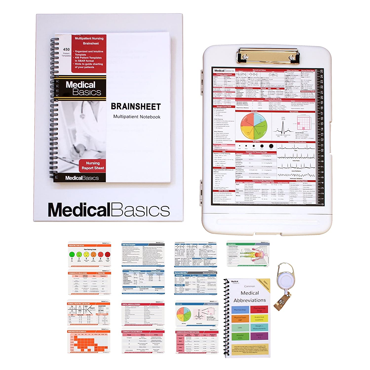 762fd83a648 Amazon.com : Nursing Gift Box - The Perfect Gift for Nurses, Great for  Graduation - Brain Sheet, Clipboard, Medical Reference Sheet Cards -  Scrubnotes ...