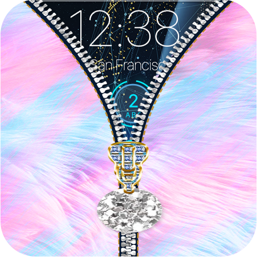 Fluffy Zipper Lock Screen Pro 2018