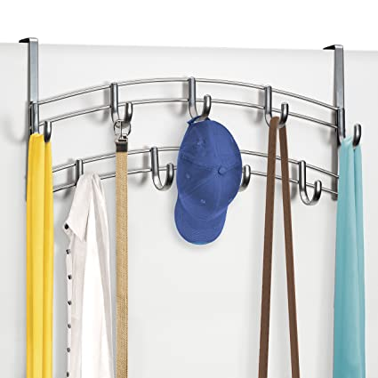 Home Improvement Adjustable Overdoor Strap Hanger Hat Bag Clothes Coat Rack Home Organizer 7 Hooks Home Bathroom Bedroom Supply