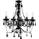 New jet black gothic crystal chandelier lighting h37 x w26 the original gypsy color 5 light medium black chandelier h21 w19 black metal aloadofball Gallery