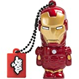Tribe Disney Marvel Avengers Iron Man USB Stick 16GB Speicherstick 2.0 High Speed Pendrive Memory Stick Flash Drive, Lustige Geschenke 3D Figur, USB Gadget aus Hart-PVC mit Schlüsselanhänger – Rot