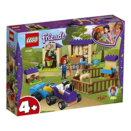 LEGO Friends - Establo de los Potros de Mia, juguete divertido de construcción para aventuras