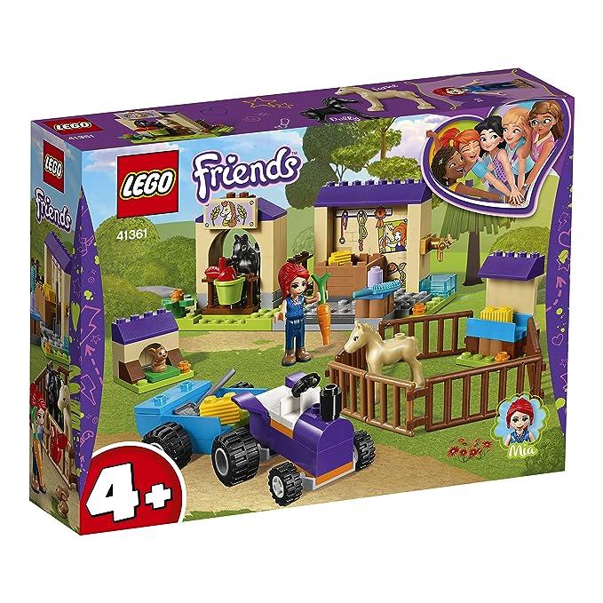 LEGO Friends - Establo de los Potros de Mia, juguete divertido de construcción para aventuras con caballos y mascotas (41361): Amazon.es: Juguetes y juegos