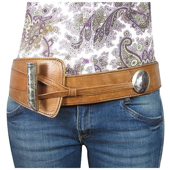 2b91884aced ALMADIH Handmade leather waist belt woven cognac Brown - genuine cow leather  - Moroccan women wide high waistband western corset belt metal buckle  ...