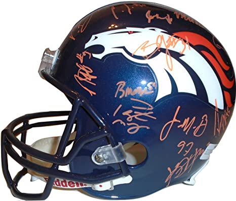 2014-2015 Denver Broncos Team Autographed Hand Signed Riddell Full Size  Football Helmet with 32 ba9b31ae9