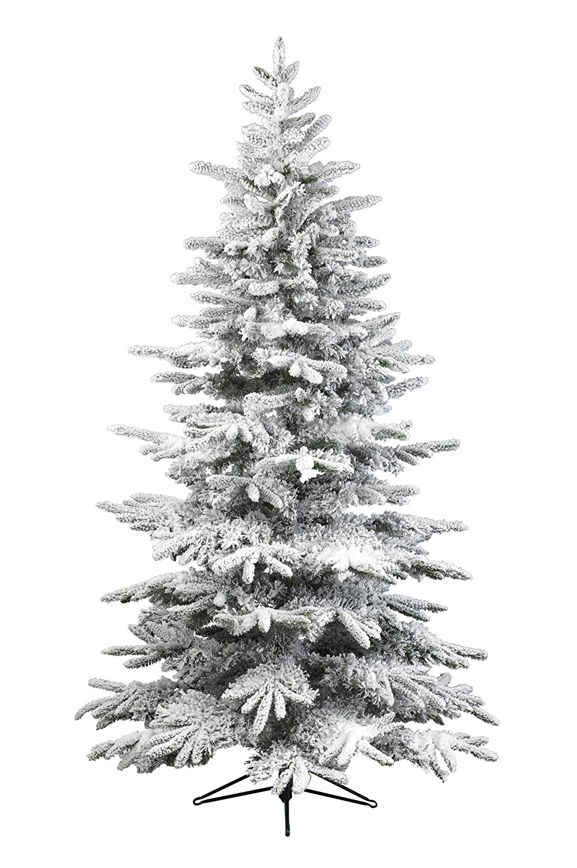 Kaemingk Everlands Snowy Alaskan Flock Christmas Tree - 6ft: Amazon ...
